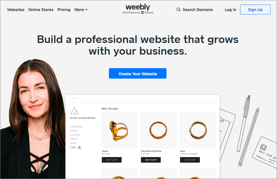 Weebly page, Build a professional website that grows with your business